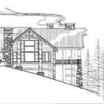 Mountain Log Cabin Drawing Architect Soellner