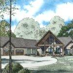 Mountain Retreat Cabin Lodge House Plan Alp