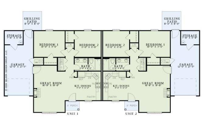 Multi House Plans Story Duplex Home Plan