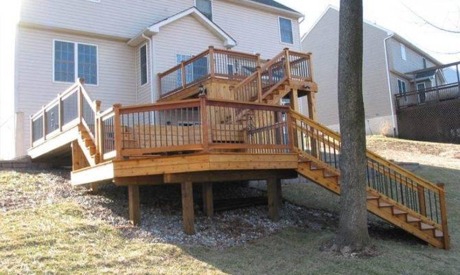 Multi Level Deck Backyard Ideas Mom Pinterest
