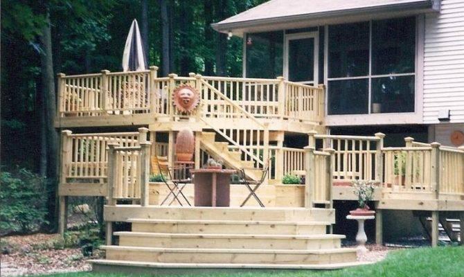 Multi Level Deck Home Pinterest