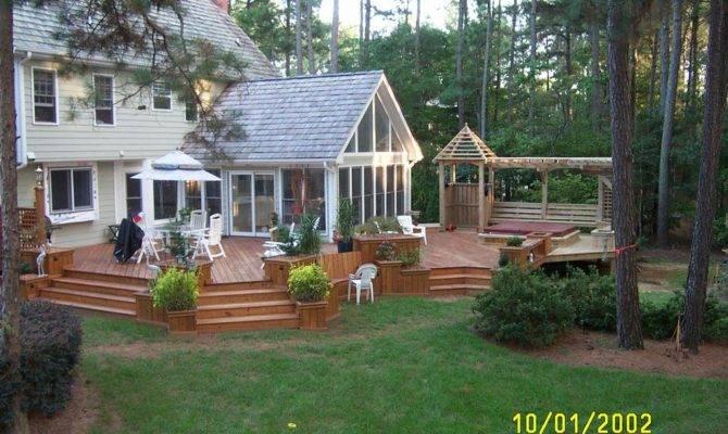 Multi Level Deck Sunroom Creative Design Builders Inc Raleigh