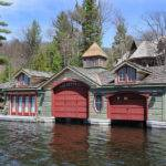 Muskoka Lakeside Country Estate Boathouse