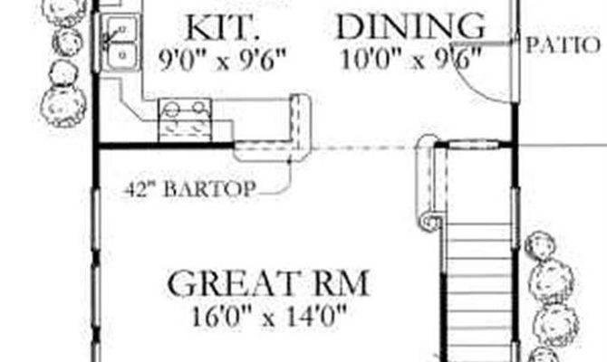 Narrow House Plans Garage Stunning Ranch Side Floor