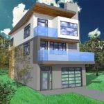 Narrow Lot Floor Plans Contemporary Open Modern Home