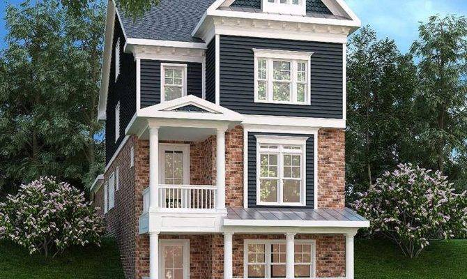 Narrow Lot Home Level Living Architectural