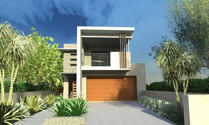 Narrow Lot House Designs Blueprint Archinect
