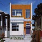 Narrow Lot House Designs Patio Modern Wood Slat