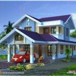Narrow Lot House Plan Kerala Home Design Floor Plans