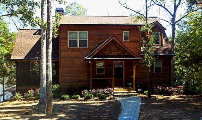 Narrow Lot House Plan Lake Coosa River Cottage