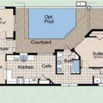 Narrow Lot House Plans Courtyard