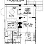 Narrow Lot House Plans Rear Garage