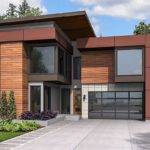 Narrow Lot Modern House Plan Architectural