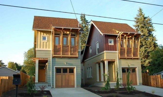 Narrow Lot Modern Infill House Plans Elegant Build