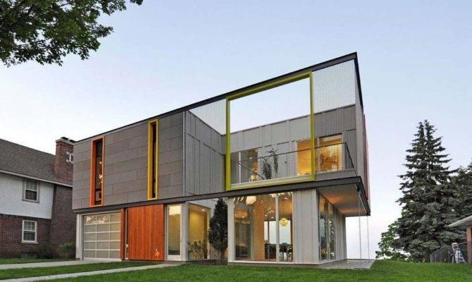 Narrow Lot Modern Infill House Plans Lovely Exterior