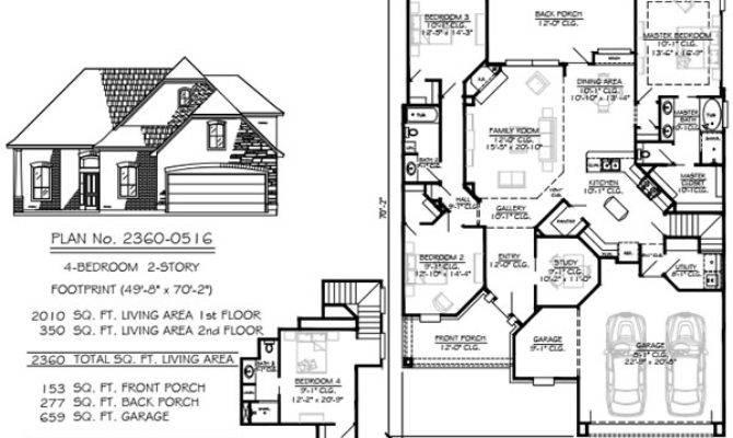 Narrow Story Floor Plans Foot Wide Lots