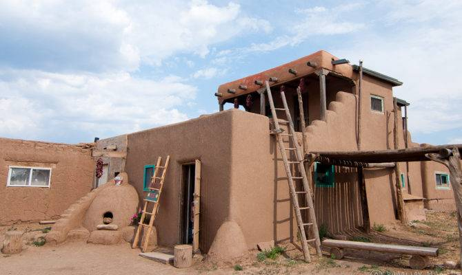 Native American Adobe House Taos Pueblo