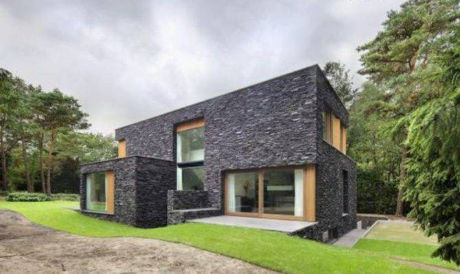 Natural Stone House Design Modern Facade Ideas