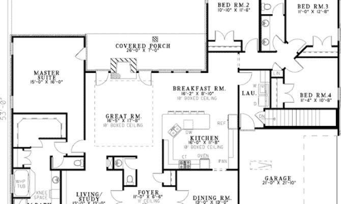 Neo Traditional Bedroom House Plan Floor