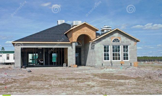 New Concrete Block Home Construction
