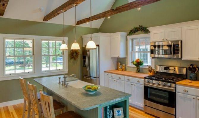 New England Cape Renovation Beach Style Kitchen
