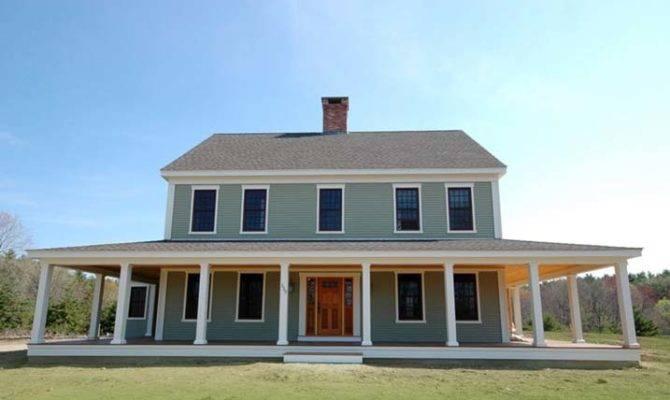 New England Farmhouse Wrap Around Porch Plans