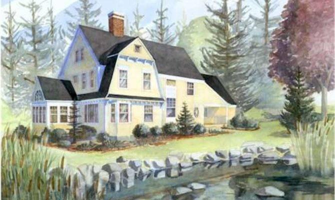 New England Shingle Style House Plans