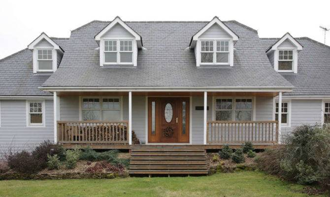 New England Style House Front