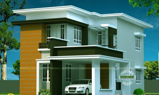 New Flat Roof House Kerala Home Design Floor Plans