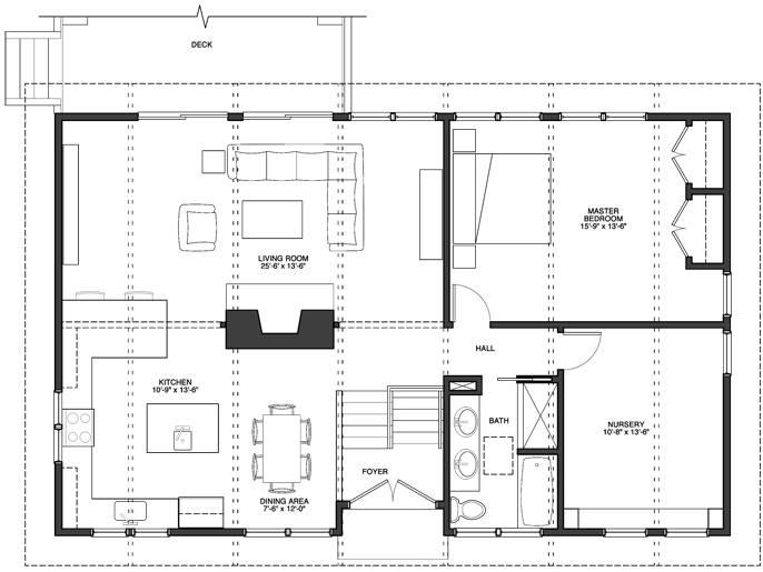 New Floor Plan Switching Kitchen Dining