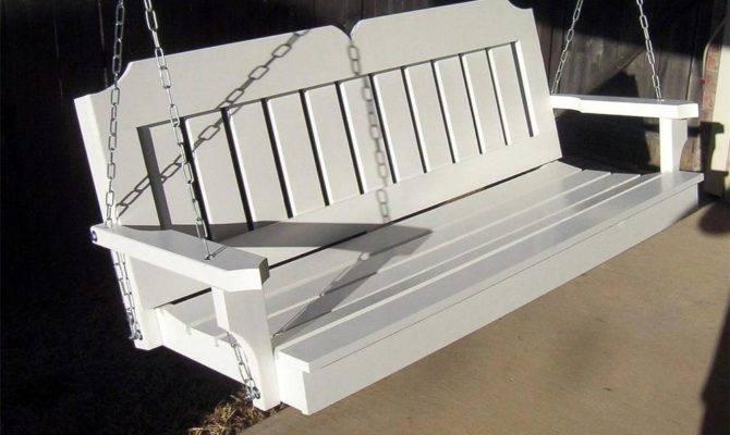 New Foot White Victorian Porch Swing Tree Swings Heavy Duty Chain
