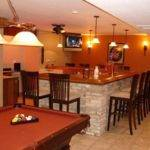 New Home Bar Designs Layouts Basement Remodel Pinterest