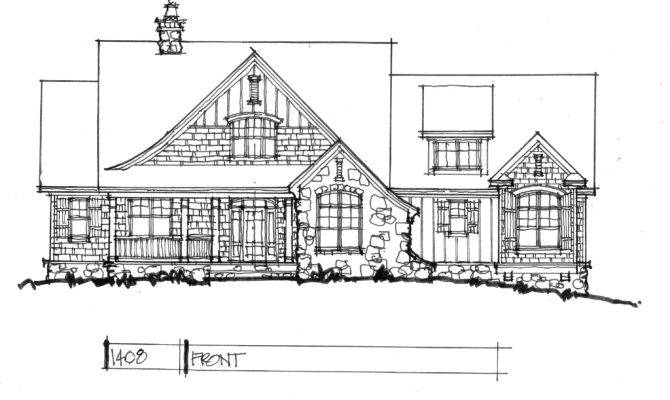 New House Plan Drawing Board Modest Floor
