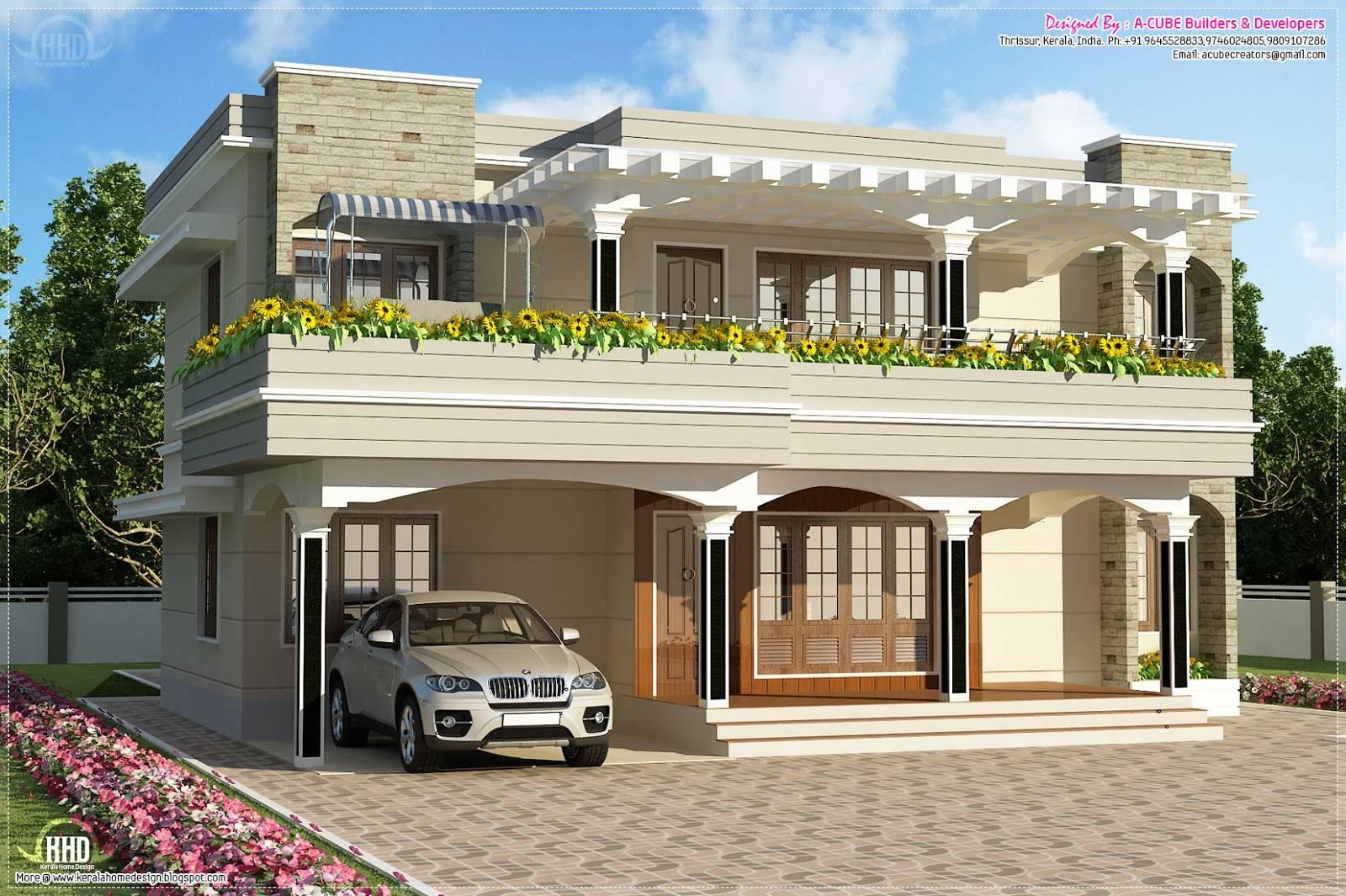 New House Plans Kerala Modern Home