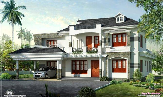 New Style Kerala Luxury Home Exterior Design