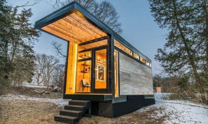 New Tiny House Also Serves Writing Studio Library