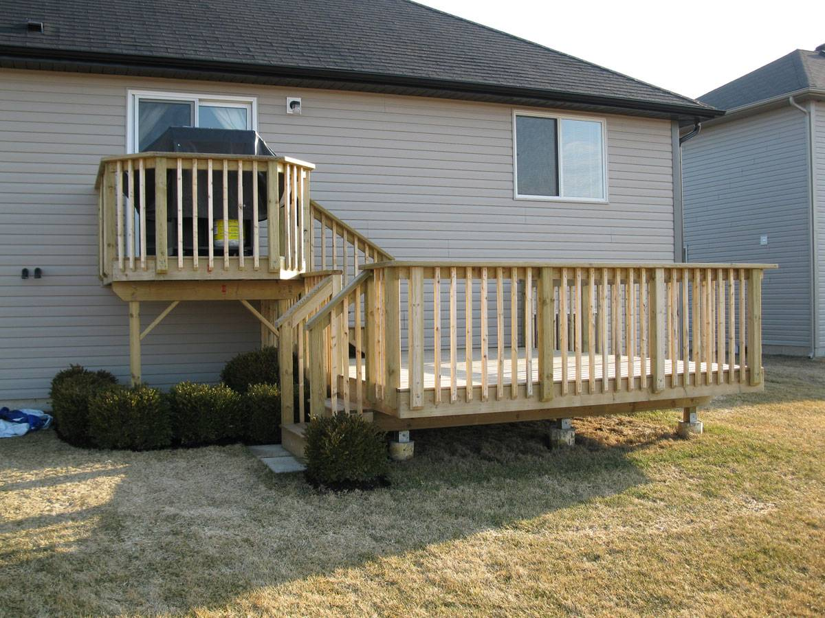 New Two Tiered Deck Home Plans