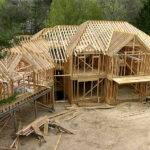 New Wood Frame House Construction Photos