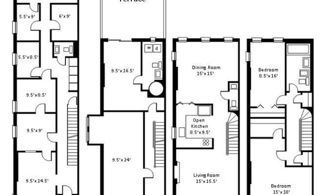 New York City Brownstone Floor Plans