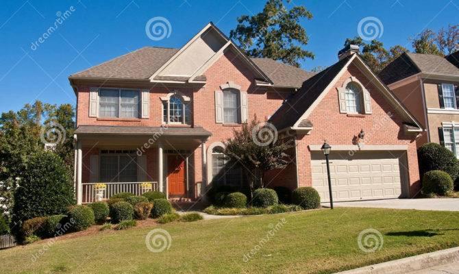 Nice Brick House Brown Door