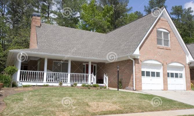 Nice Brick House Veranda