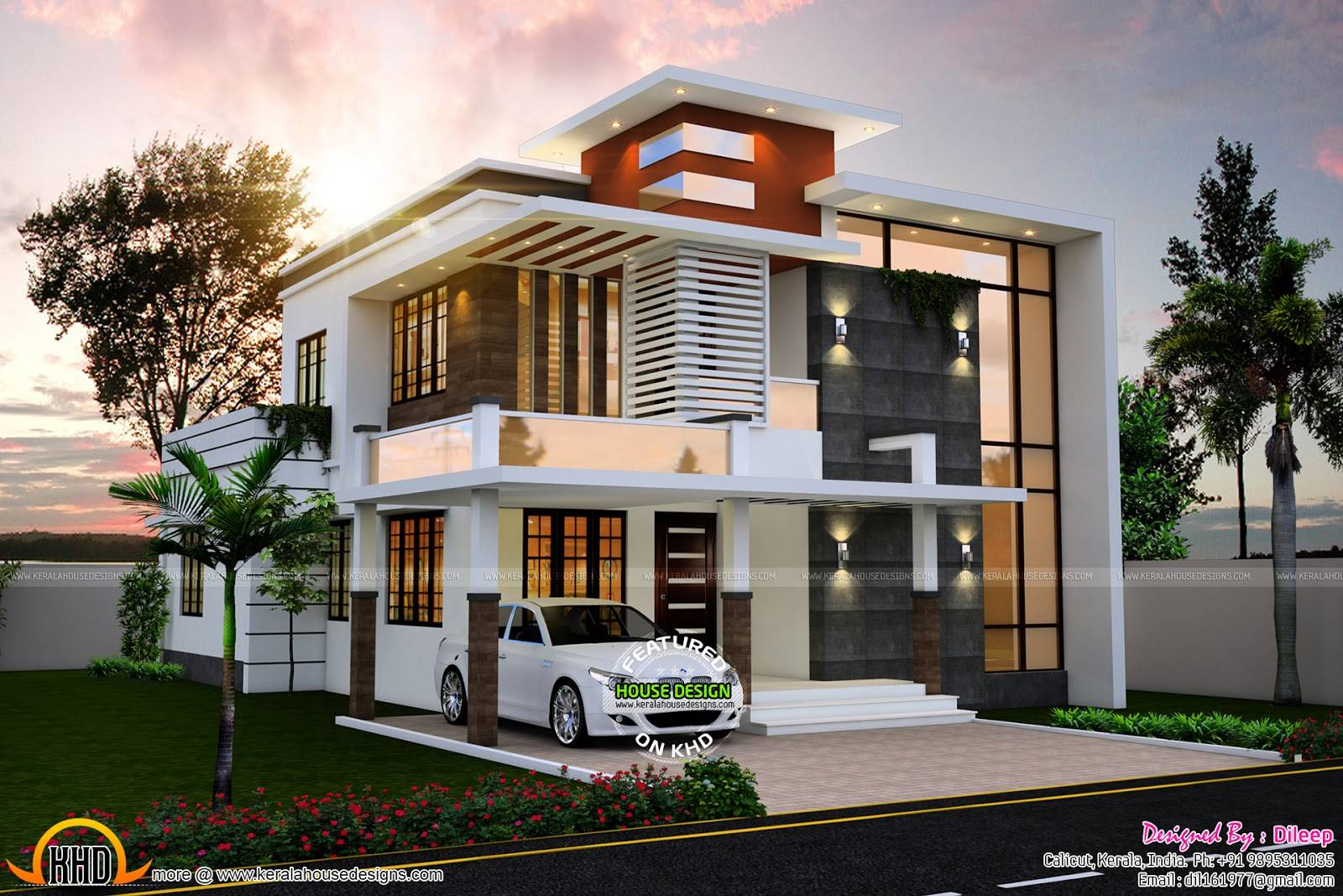 Nice Contemporary House Kerala Home Design Home Plans Blueprints 99130