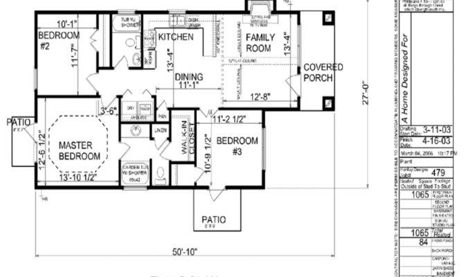 Nice One Story Houses Simple House Floor Plans