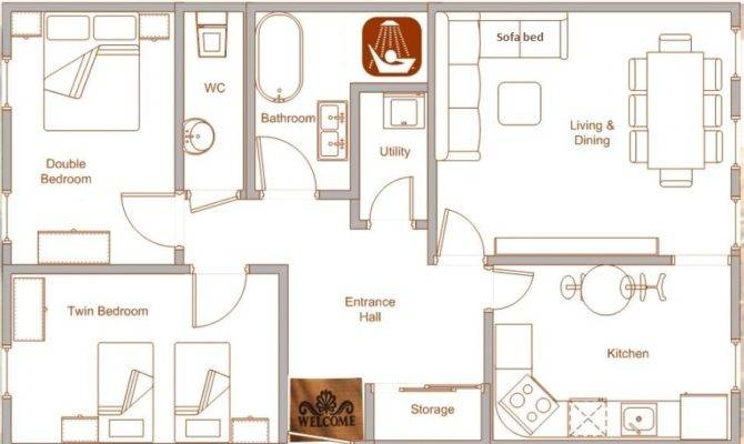 Nice Rental Holiday Apartment Room Layout Very Spacious Set Out