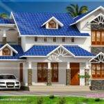 Nice Sloped Roof Kerala Home Design Indian House Plans