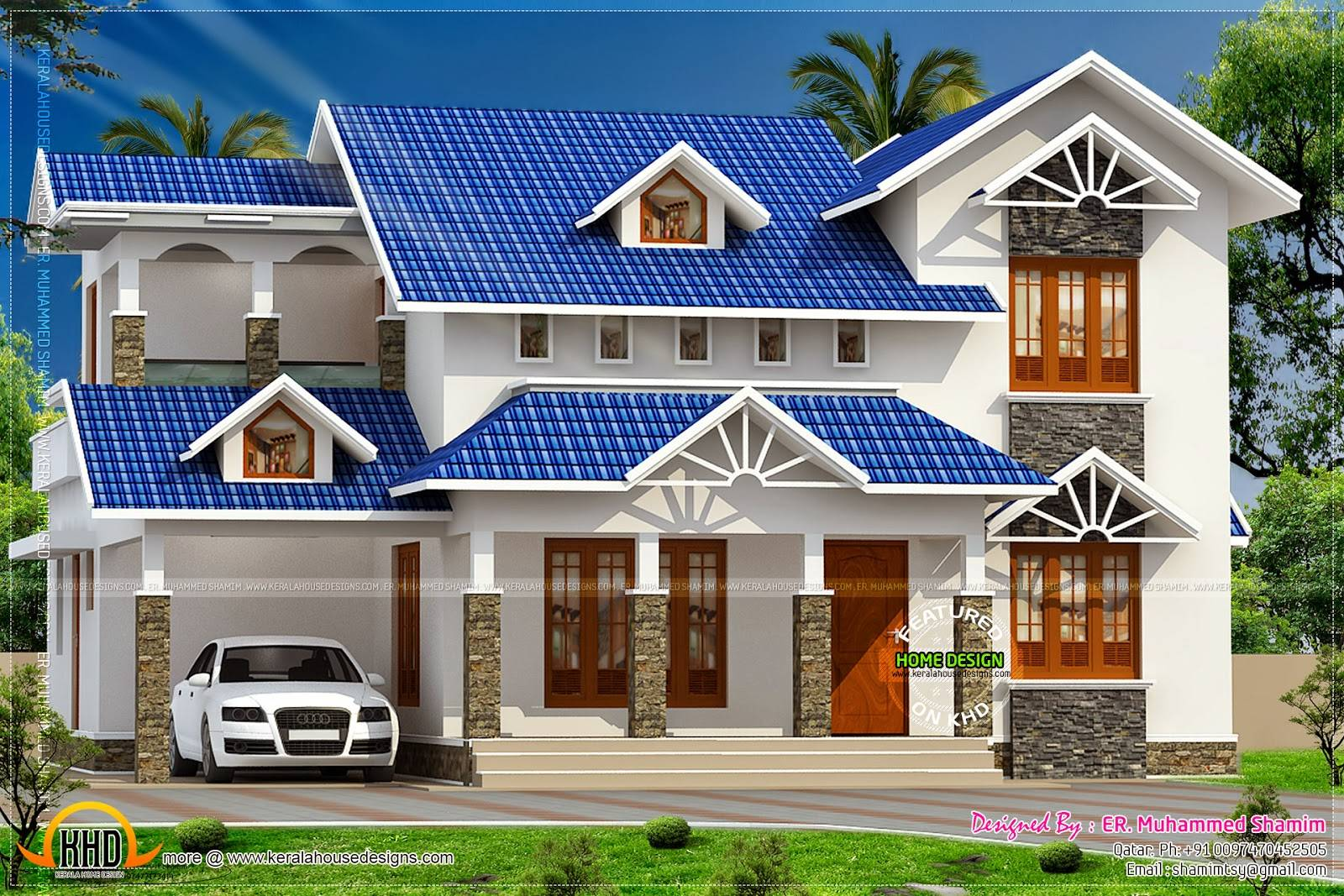 Nice Sloped Roof Kerala Home Design Indian House Plans Home Plans Blueprints 90205