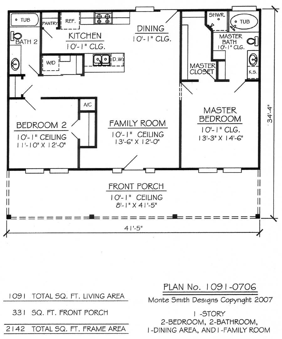 Nice Two Bedroom House Plans Bathroom