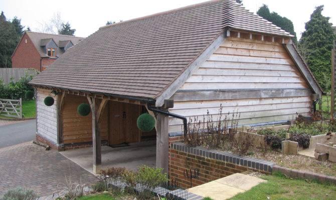Oak Framed Bay Garage Project Shires Buildings