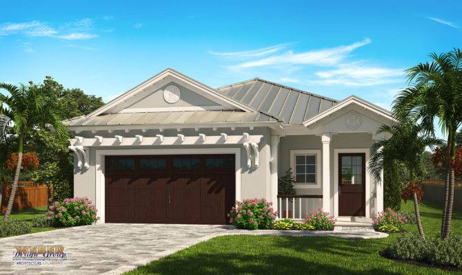 Ocean Ridge House Plan West Indies Style Narrow Lot