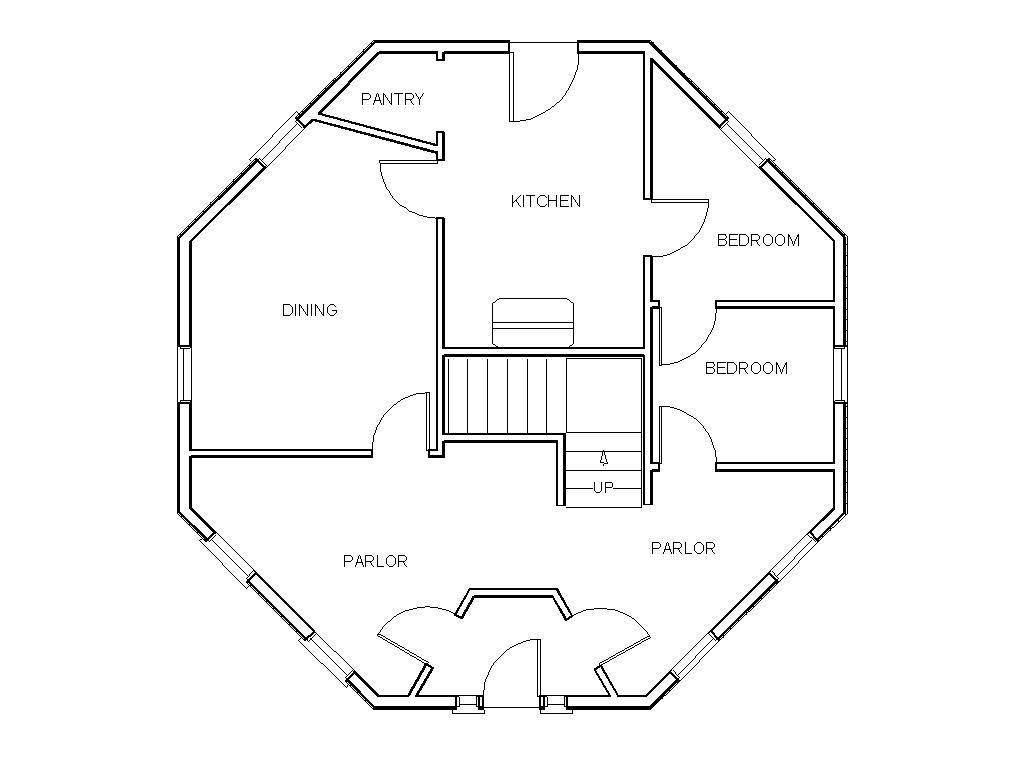 Octagon House Floor Plans Historygrandrapids - Home Plans ...